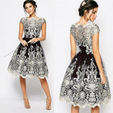 Hollow Out Elegant Lace Dress