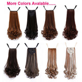 Long Curly Synthetic Ponytail Hair Extensions