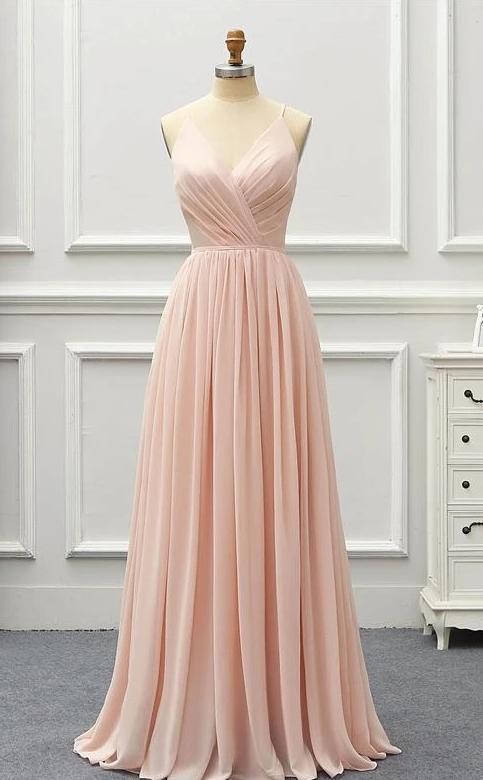 V-Neck Elegant Long Dress