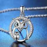 Owl Necklace Crystal Necklace