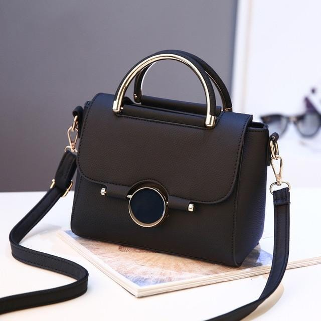 Fashion Sequined Mini Shoulder Handbag Black