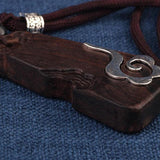 Vintage Metal Wood Pendants Necklace