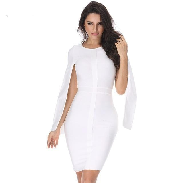 Batwing Sleeve Short Party Dress