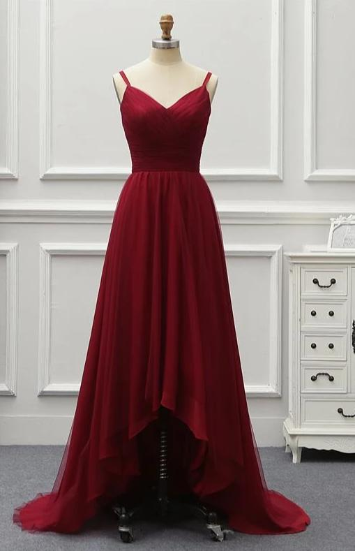 New Arrival Formal Long Evening Dress Wine Red