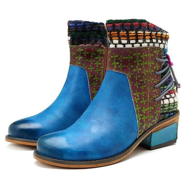 Ethnic Patchwork Cowboy Boots