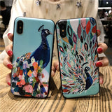 Peacock painting beautiful iPhone Case