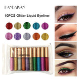 Glitter 10PCS/SET Waterproof Liquid Eyeliner