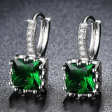 Cute Small Crystal Earrings Green