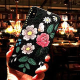 3D Embossed Silicone Frosted iPhone Case