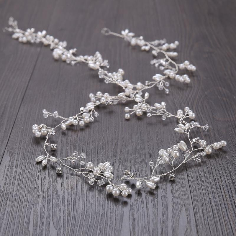 Floral Crystal Handmade Wedding Crown