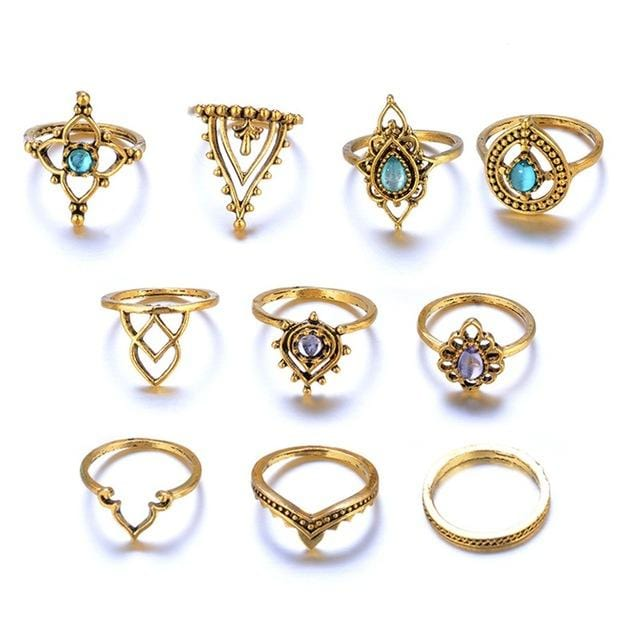 Retro Fashion Knuckle Ring Set