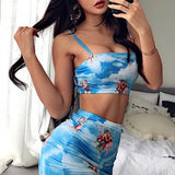 Summer Cool Sexy Crop Top And Skirt Set