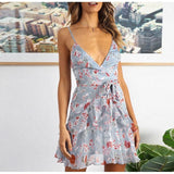 Peppy And Hot Short Summer Dress Blue