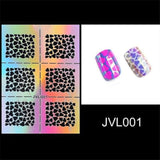 Hollow Nail Art Gel Sticker Template