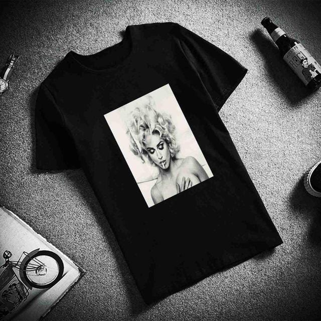 Casual O Neck Art Printed Unisex T Shirt Black