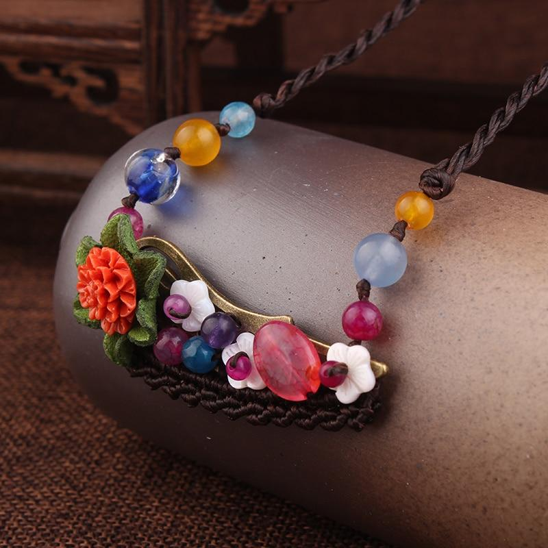 ,New flowers Ethnic Stones Choker Necklace