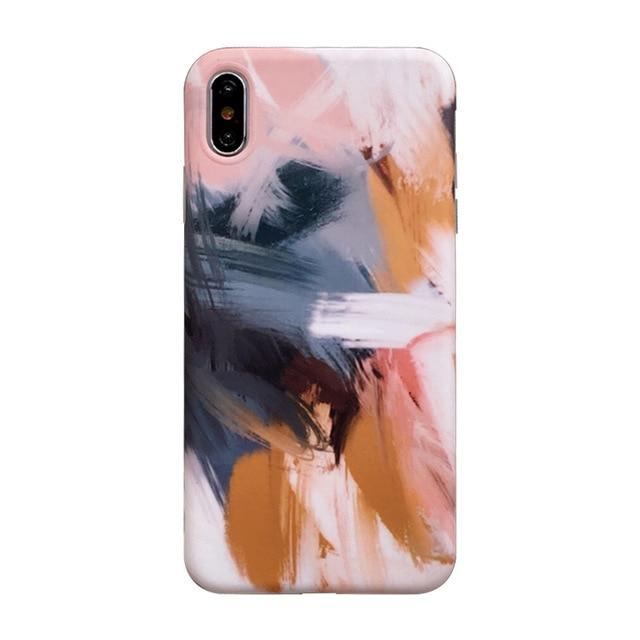 Painting Marble Watercolor Soft iPhone Case