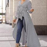 Officewear Striped Long Shirt