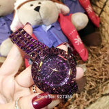 Rhinestone Purple Luxury Full Crystal Wristwatch