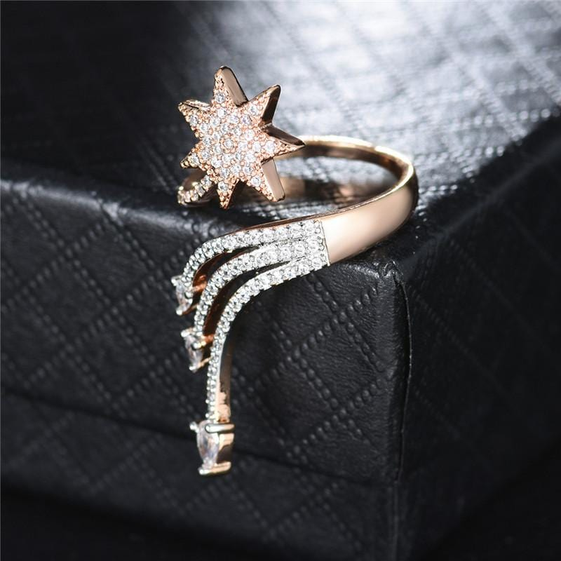 Cupid's Arrow Crystal Trendy Ring
