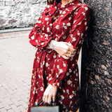 Vintage Floral Long Sleeve Dress