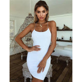 Plain Solid Elegant Backless Mini Dress White