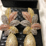 Luxury Leaf Flower Drop Fashion Earring