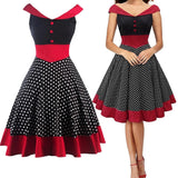 Polka Dot Ball Party Vintage Dress