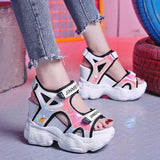 Peep-Toe Platform Heel Casual Sandals