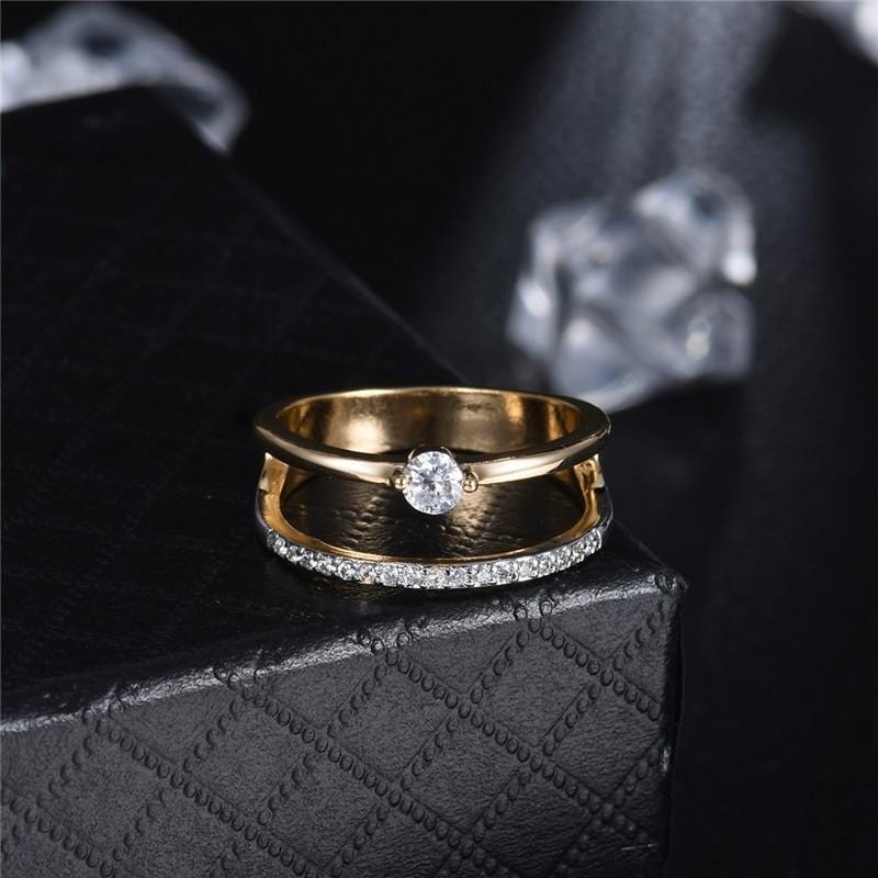 Solitaires Cubic Zirconia Party Ring