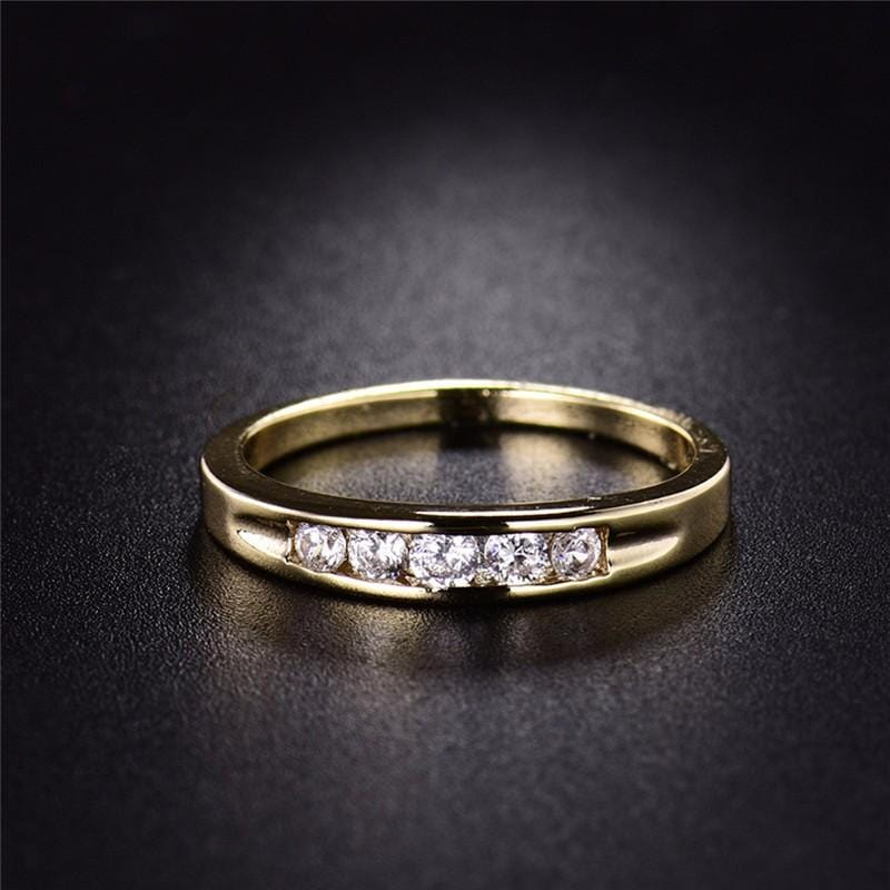 Crystal Vintage Gold-Color Ring