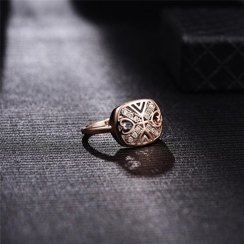 Unique Bohomian Rose Gold Ring