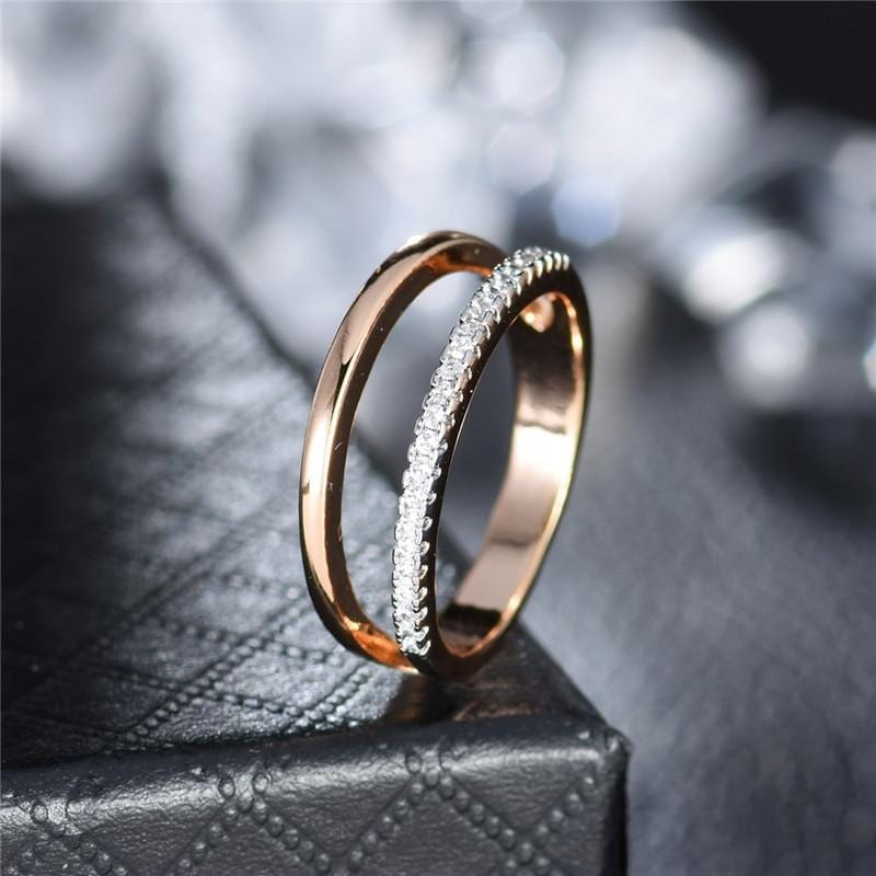 Crystal Round Elegant Ring