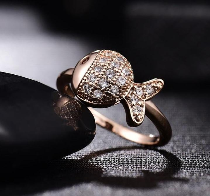 Crystal Vintage Antique Rose Gold Ring