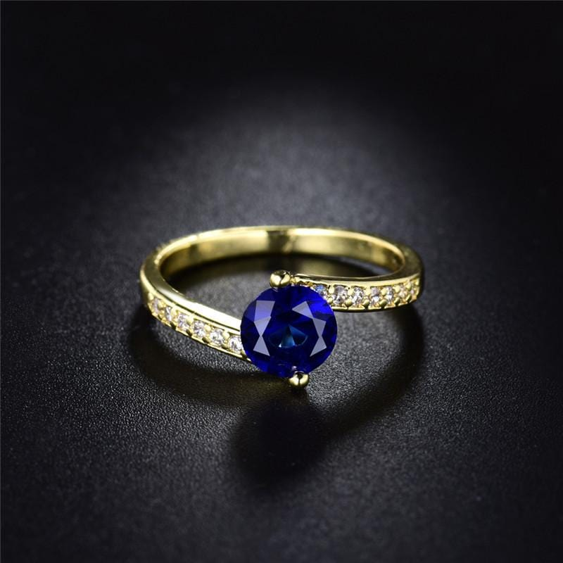 Unique Deep Blue Ring