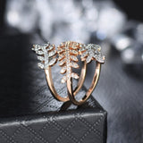 Gold And Silver Combination Crystal Ring