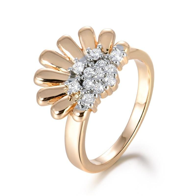 Cute Flower Shape Gold-Color Ring