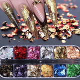 Nail Sequins Gold Silver Paillette  Mirror Glitter