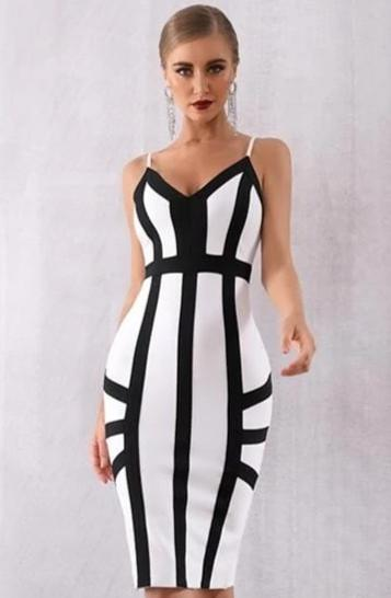 Elegant Striped Bodycon Dress