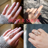 New Fashion Crystal Zirconia Open Ring