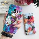 KISSCASE Fish Scales Phone Case For Samsung Galaxy S9 S8 Plus S7 Colorful Light Marble Case For Samsung S7 Edge Note 8 9 Cover