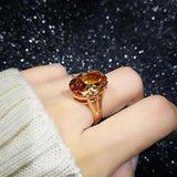 Crystal Cubic Zirconia Rose Gold Color Ring