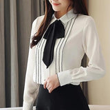 Long Sleeve Bow Tie Formal Shirt
