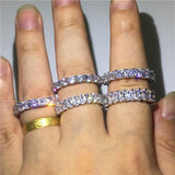Silver Bling Band Rings