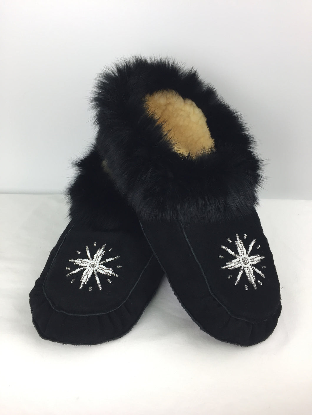 Traditional Black Moccasins
