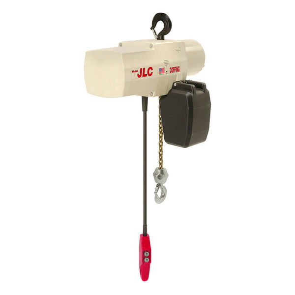 JLC Electric Chain Hoist - 230/460-3-60, 1 Chain, Plain Trolley