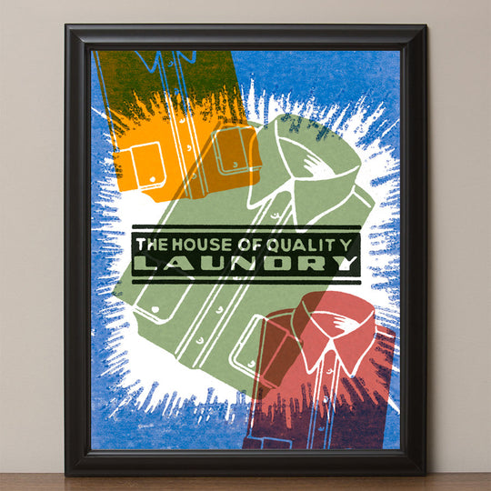 "12"" x 16"" ""House of Laundry"" Poster Print"