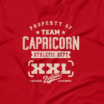 Zodiac Capricorn Athletic Dept. Short-Sleeve Unisex T-Shirt