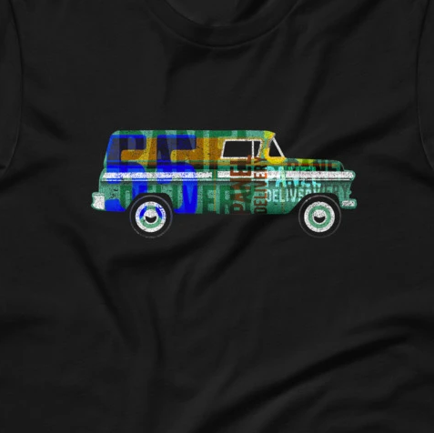 1955 Panel Delivery Truck Rat Rod Short-Sleeve Unisex T-Shirt