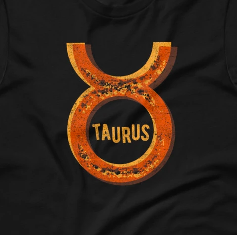 Tie-Dye Taurus Zodiac Sign Horoscope Short-Sleeve Unisex T-Shirt
